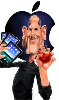 "CARICATURAS DE FAMOSOS: ""Steve Jobs"" por Petry"
