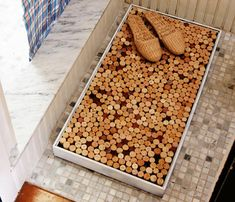 DIY cork bathmat #diy #bathmat #cork