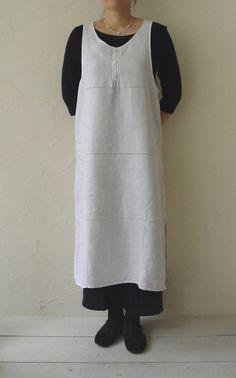Linnet sewing pattern. Apron dress.
