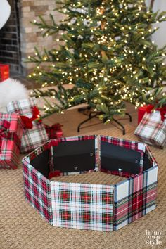 Christmas Tree Stand Cover Using Photo Frames