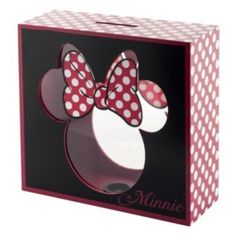Disney's Minnie Mouse Wooden Bank  Great way to save for your Disney vacation!  #jetsettravelplanners  Amanda@jetsettravelplanners.com