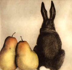 Rabbit with 2 pears - I have this at my house along with 2 other CC Barton works.