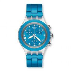 3750a66c0a5 Relogio Swatch Full-Blooded Cyan Coleção Irony SVCK4053AG Swatch
