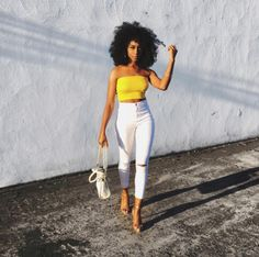 Too beautiful for words! @ninaaigbe_ is looking like a goddess with those curls!