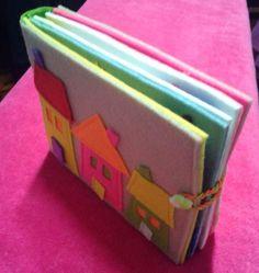 Libro de actividad niños silencioso Libro Juguete De Fieltro Artesanales De Fieltro Hechos A Mano 6 páginas activas