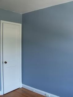 The color is Bleached Denim by Behr. For Dylan's room. Blue Bedroom Colors, Blue Paint Colors, Blue Rooms, Paint Colors For Home, Blue Walls, Aqua Bedrooms, Designer Wallpaper, Wallpaper Designs, Bleached Denim