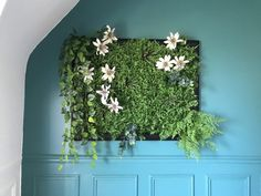 Tableau végétal artificiel aussi beau qu'un vrai - Ciloubidouille Feuille Eucalyptus, Indoor Plants, Aquarium, Diy, Home Decor, Partitions, Succulent Frame, Flower Wall, Inside Plants