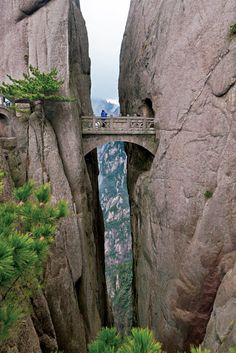 Huangshan, China - Bridge of Immortals. what imagination the builders must have had!