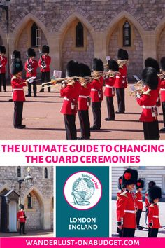 Did you know that you can watch the Changing the Guard ceremony in London in three different places? Find out everything you need to know to see them all - at Buckingham Palace Windsor Castle and Horse Guards Parade. Europe Destinations, Europe Travel Tips, European Travel, Travel Guides, Travel Uk, Hawaii Travel, Amazing Destinations, Holiday Destinations, Budget Travel