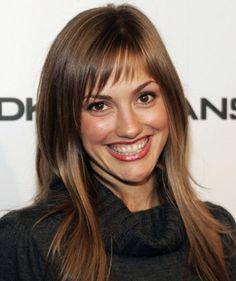 medium hair with short choppy bangs | ... actress minka kelly s layered hairstyle with short wispy bangs