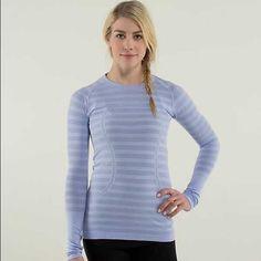 Lulu lemon long sleeve purple run swiftly top 4 Worn once. In great condition!! lululemon athletica Tops