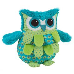 Turquoise and Green Owl Pillow - Maison Chic -