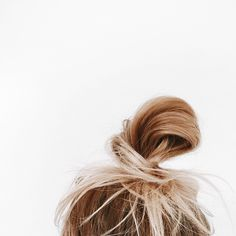 Messy beach bun