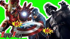 Iron Man vs  Captain America vs  Darth Vader  Fight in Real Life - Super...