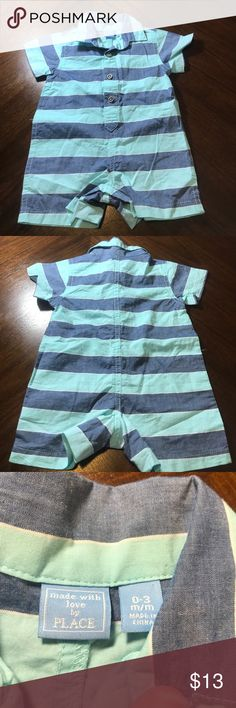 Children's place boys one piece outfit size 0-3mon Children's place boys one piece outfit size 0-3mon. In good used condition. Children's Place One Pieces