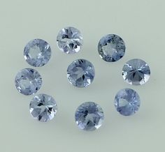 TANZANITE 1.90 CT 3.5 MM ROUND FACETED WHOLESALE LOT OF 10 PIECE TANZANIA GEMS #SGL
