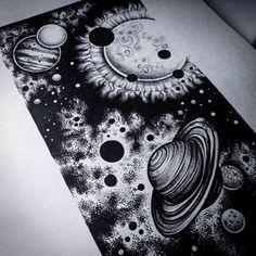 рисунки в стиле графика космос - Поиск в Google