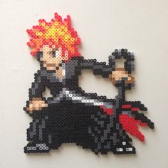 Ichigo Bleach perler beads by 8bitofjai