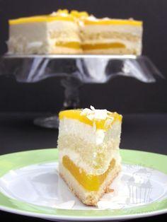 Anschnitt Mango Kokos Torte