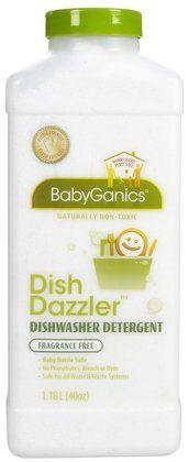 Best Dishwasher Detergent. Babyganics Dish Washer Detergent.