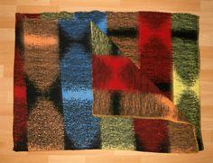 Vintage blanket with label Original Made in Holland