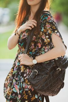 #boho #dress #floral #maxi #70s #alicespig #inspiration #outfit #look #streetstyle #fashionblogger #backpack #chicwish #zara