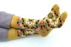 NEW MUSTARD dress socks for men / mens socks/ by MaplePropeller