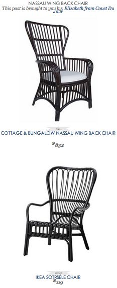NASSAU WING BACK CHAIR vs IKEA SOTRESLE CHAIR