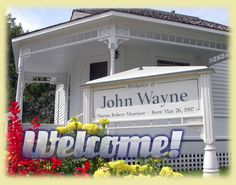 The Birthplace of John Wayne in Winterset, Iowa.  Cute little town and near all the covered bridges of Madison county.