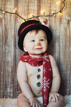 bebés tiernos en Navidad