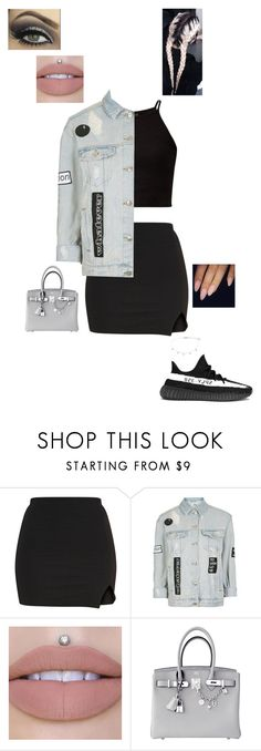 """2.9.17"" by jesshorne2016 ❤ liked on Polyvore featuring adidas, Topshop, Jeffree Star and Hermès"