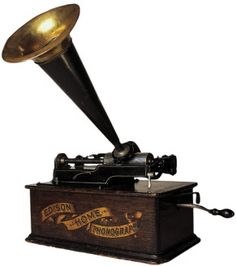 *THOMAS EDISON ~ 1887, Thomas Edison invented a phonograph that would play music from a cylinder