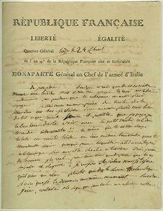 Napoleon to Josephine, 13 May 1796