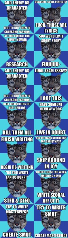 "Who knew ""Writer Leopard"" was a thing? New favorite meme."