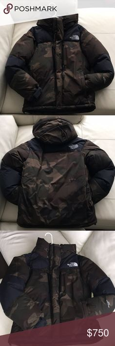 The North Face Baltro Coat Japanese Purple Label - limited edition - nyc flagship store only - limited collection - camouflage and navy blue - gortex waterproof - fully insulated - inside pockets The North Face Jackets & Coats Puffers