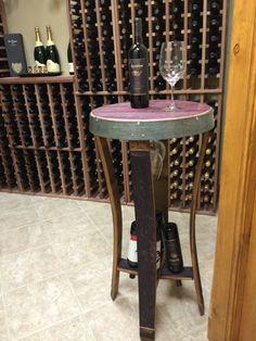 NAPA Serenoa Wine Barrel Side Table