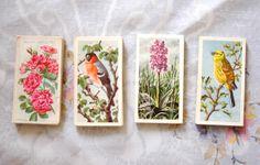 DIY: Cigarette cards garland