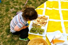 Ducklings In A Row - Hair + DIY Tutorials: Birthday Picnic DIY #3 - Patterned Picnic Blanket (for less than $10)