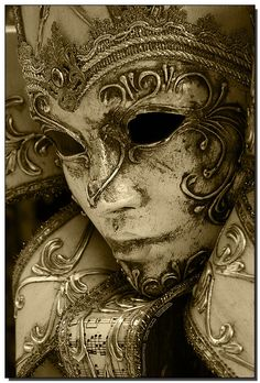 Venetian aged mask