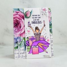 Neat Nook Creations: Unity paper card trim and Copics with stamping. Penny Black Stamps, Unity Stamps, Illustrated Faith, Copic Markers, Copics, Girl Birthday, Stamping, Card Stock, Card Making