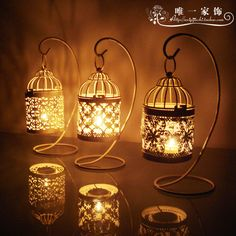 Warm time European retro classic Moroccan wrought iron bird cage candle wedding candle