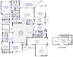images about House plans on Pinterest   House plans  Floor    Luxury Modern Courtyard House Plan