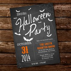 Halloween Party Invitation by SunshineParties,