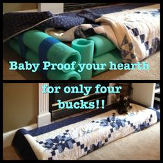 Baby proofing the hearth via @Kelly Doherty So doing this tomorrow!!! Thanks for posting K!