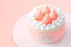 Japanese White Strawberry Angel Cake | Arome Bakery