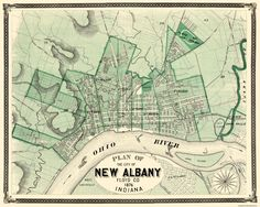 Re-design an unique New Albany now on 19Maps - wall print #historicalmap #interiordedign #homedecor #poster #mapcanvas #tellyourstory #personalizedmap #interiors #gift #customized #map #canvas #homeinterior #print #giftideas #interiordecorating #presentideas #lovelyinterior #mapposter #personalized