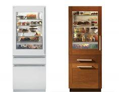 """GE Monogram's new line of 30"""" refrigerators w/ glass front door panels... ooh la la"""
