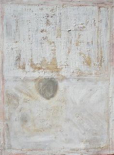 "Rose Minetti 2010  Ode to Robert Ryman  oil and wax on canvas  40""x 30"""