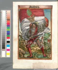 Colour Plate: German State Banners:  Augsburg, Imperial City