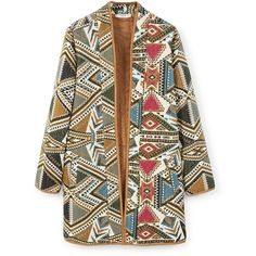 Embroidered Jacket (225 RON) ❤ liked on Polyvore featuring outerwear, jackets, mango jacket, long sleeve jacket, lined jacket, embellished jacket and embroidery jackets